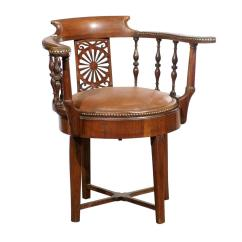 Swivel Chair In Spanish White Desk With Arms 19th Century Walnut Armchair At 1stdibs