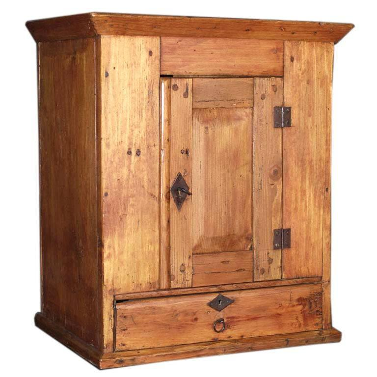 Wall Hanging Cabinet with Drawer For Sale at 1stdibs
