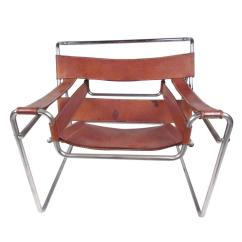 Breuer Chairs For Sale Chromcraft Dining Marcel Wassily Style Leather Strap Chair At 1stdibs