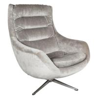 Mid-Century Modernist Curved High Back Swivel Chair in ...