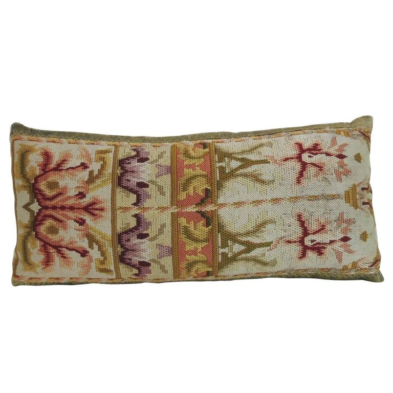 19th Century Tapestry Decorative Lumbar Pillow For Sale at