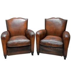 Club Chairs For Small Spaces Oak Office Chair 1930s French Art Deco Moustache Leather Lounge