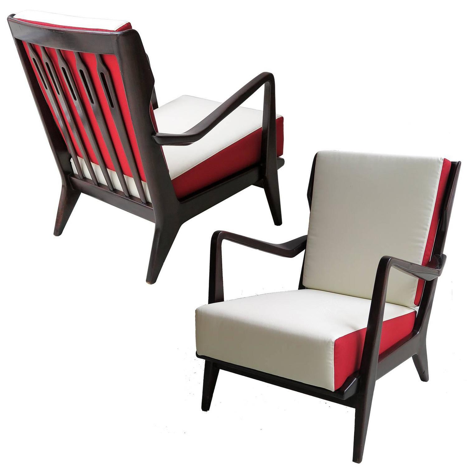 gio ponti chair ucomfort massage pair of armchairs model 516 at 1stdibs