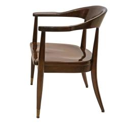 Mid Century Barrel Dining Chair Backrest For Office Mahogany Back With Molded Seat