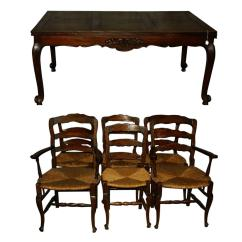 Parisian Table And Chairs Wheelchair Brands 19th Century French Country Carved Oak Dining