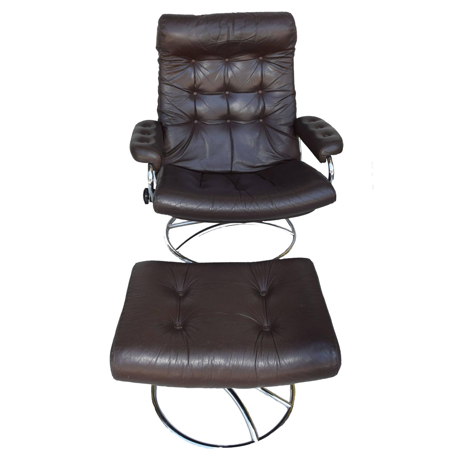 stressless chair sale seat covers for chairs with arms ekornes and ottoman 1972 at 1stdibs