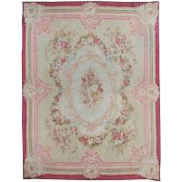 Antique French Aubusson Rug, circa 1890 For Sale at 1stdibs