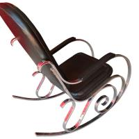French Mid-Century Modern Chrome Rocker For Sale at 1stdibs