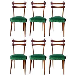 See Through Dining Chairs Highback Office Chair Mid Century Italian Set Of Six In Velvet