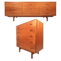 Mid-Century Modern Danish Teak Bedroom Set For Sale at 1stdibs