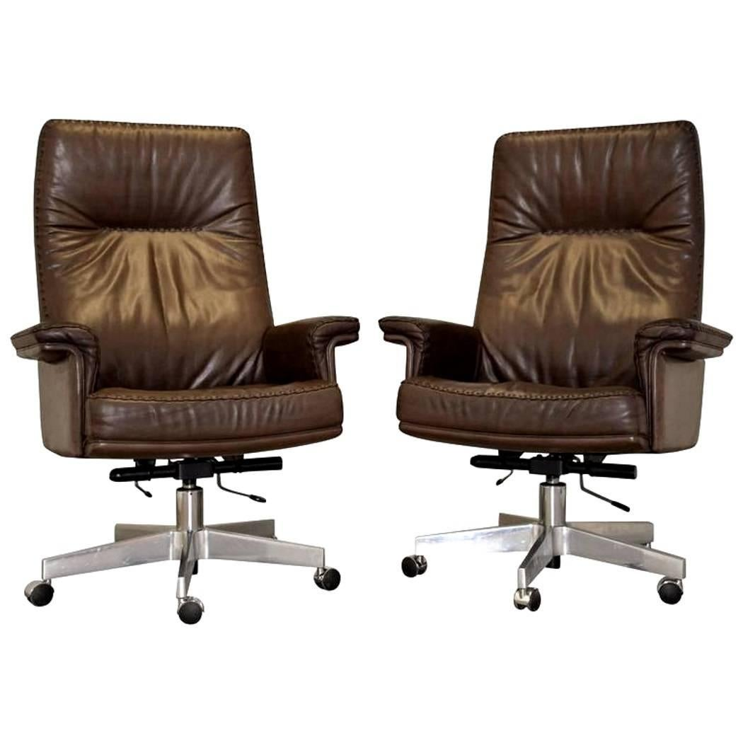 swivel arm chairs revolving chair for salon vintage swiss de sede ds 35 executive armchairs 1960s sale