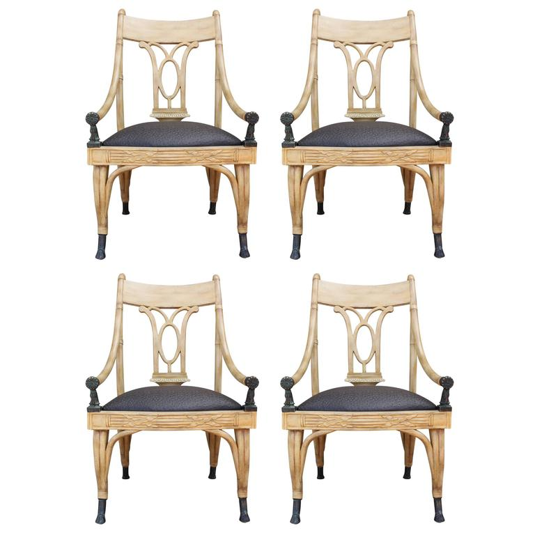 maitland smith dining chairs cypress adirondack louisiana set of four horse arm light at 1stdibs for sale