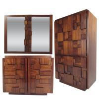 Mid-Century Brutalist Bedroom Set by Lane Furniture For ...