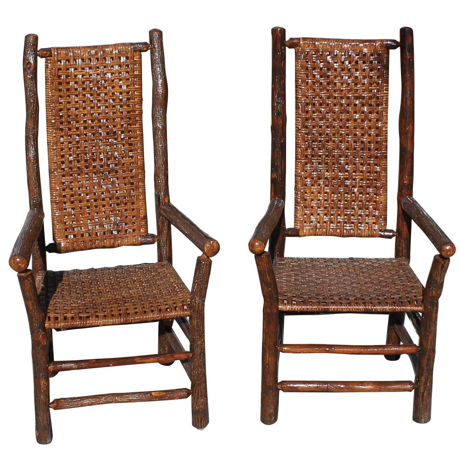 hickory chairs for sale hon office chair controls pair of signed old tall back armchairs at