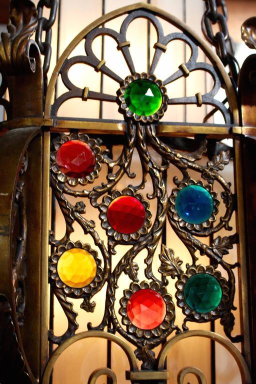 Ecclesiastical Byzantium Art Deco Pendant Fixture Circa 1920s At 1stdibs