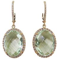 Zoccai Amazing Green Amethyst gold Drop Earrings For Sale ...