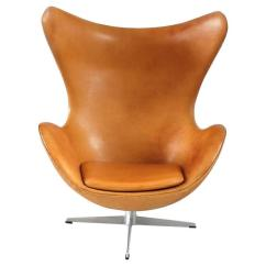 Jacobsen Egg Chair Leather How To Make Cheap Covers For A Wedding Cognac By Arne Fritz Hansen Denmark 1966 Sale