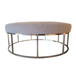 Stunning Steel Chair Attacks Toy High Custom Designed Round Ottoman With Stainless