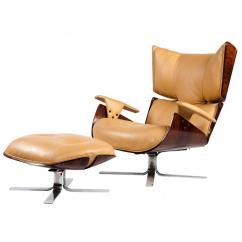 Modern Lounge Chair And Ottoman Set Fishing Bass Pro Quotpaulistana Quot Mid Century