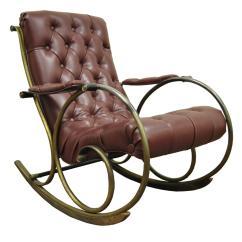 Mid Century Rocker Chair Caning Kit Lee Woodard Tubular Brass Rocking Or