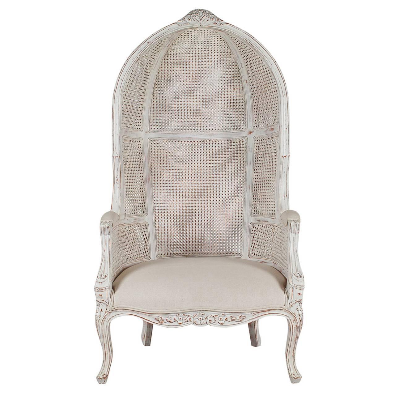 french canopy chair reclining camp style cane wingback porters for sale