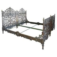 Modern Sofa With Trundle Reclining Canada Pair Of Cast Iron Italian Beds At 1stdibs