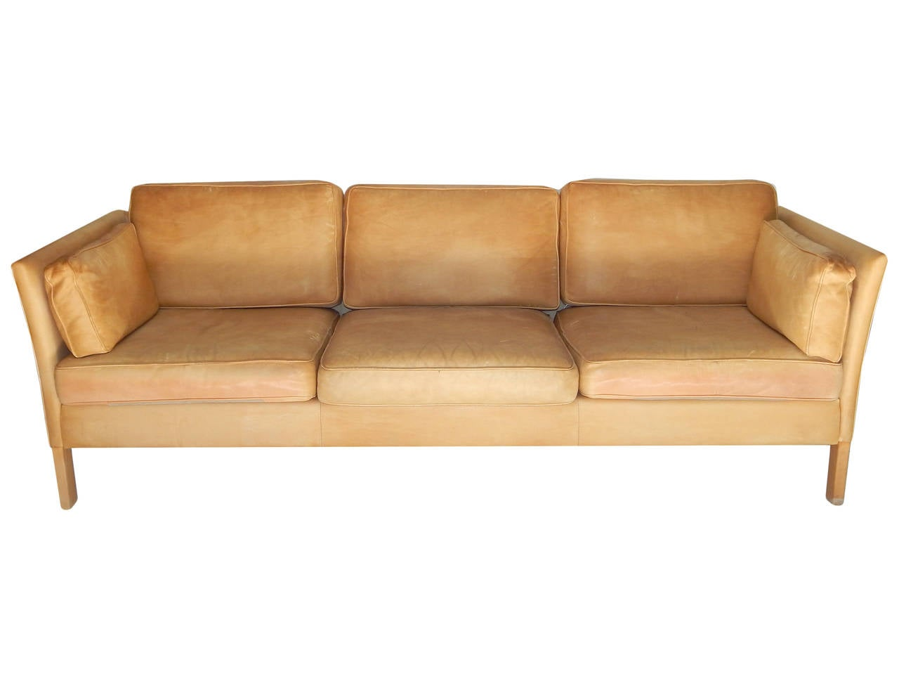 caramel colored leather sofas simmons sofa beds borge morgensen image 3