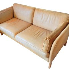 Caramel Colored Leather Sofas Sofa Seat Inserts Børge Morgensen Settee At 1stdibs