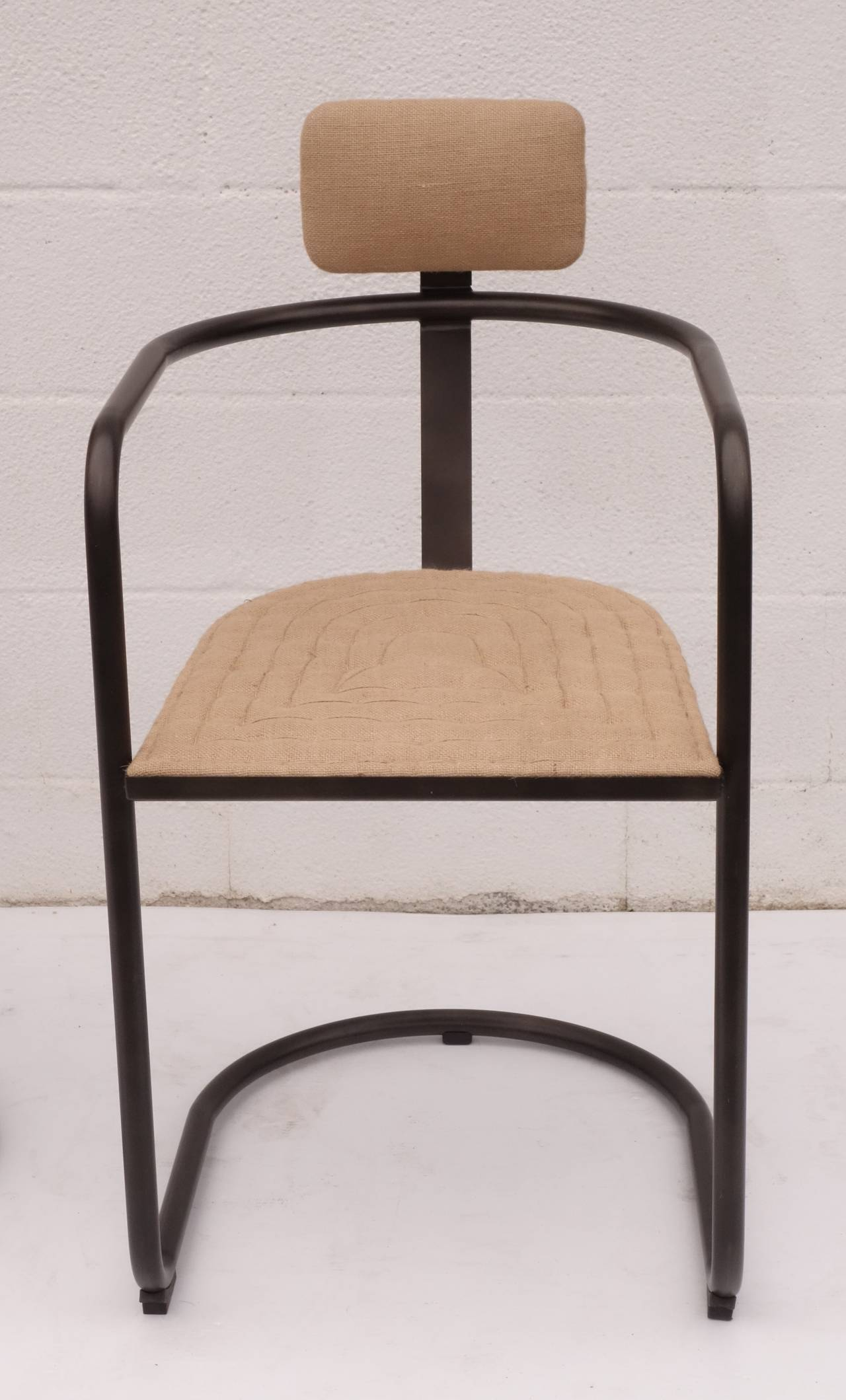 burlap chair covers for sale grey canvas cantilevered at 1stdibs