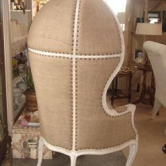 French Club Chairs For Sale Chair Height Toilets Burlap Upholstered Dome At 1stdibs