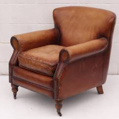Leather Chairs For Sale Wingback Chair With Nailhead Trim On Casters At 1stdibs
