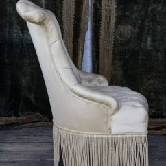 Bonnie Cream Slipper Chair The Perfect Sleep Reviews Pair Of Tufted And Scrolled Chairs For Sale At 1stdibs