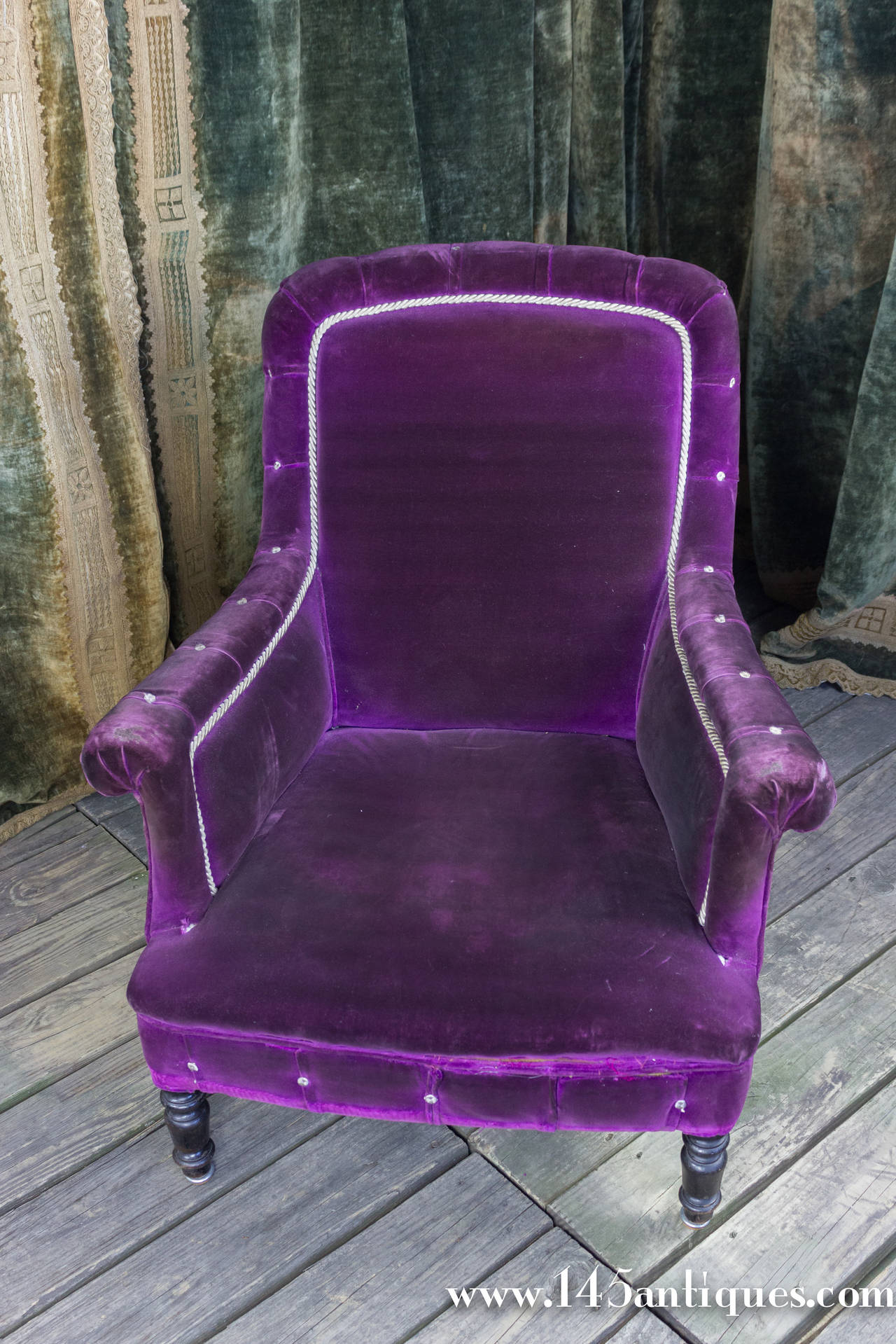 arm chairs for sale anti gravity massage chair french 19th century armchair in purple velvet at
