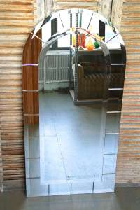 Arch Top Mirror with Beveled Panels For Sale at 1stdibs