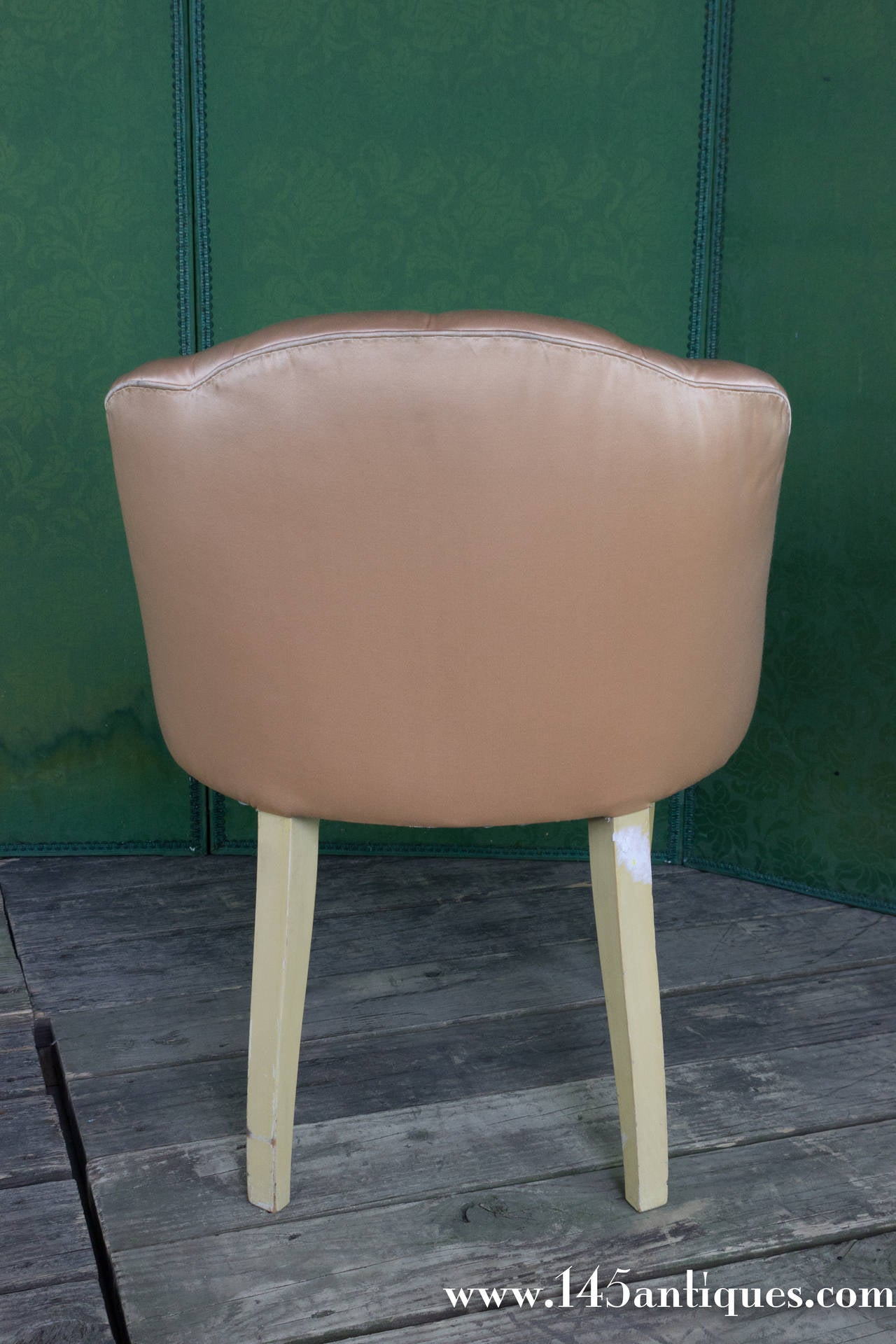 vanity chair with back bean bag covers canada 20th century french tufted stool at 1stdibs
