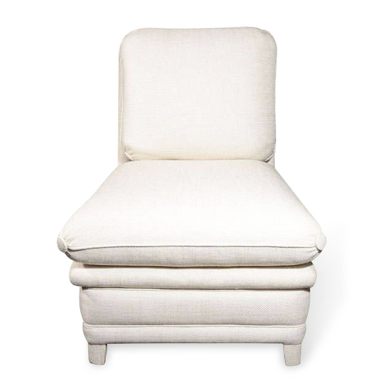 white leather slipper chair revolving catalogue upholstered by billy baldwin at 1stdibs