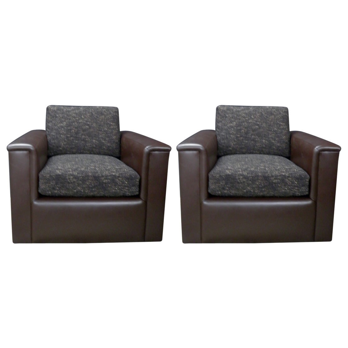 Refurbished Chairs Fully Refurbished Pair Of Very Comfortable Club Chairs On Casters And Swivels