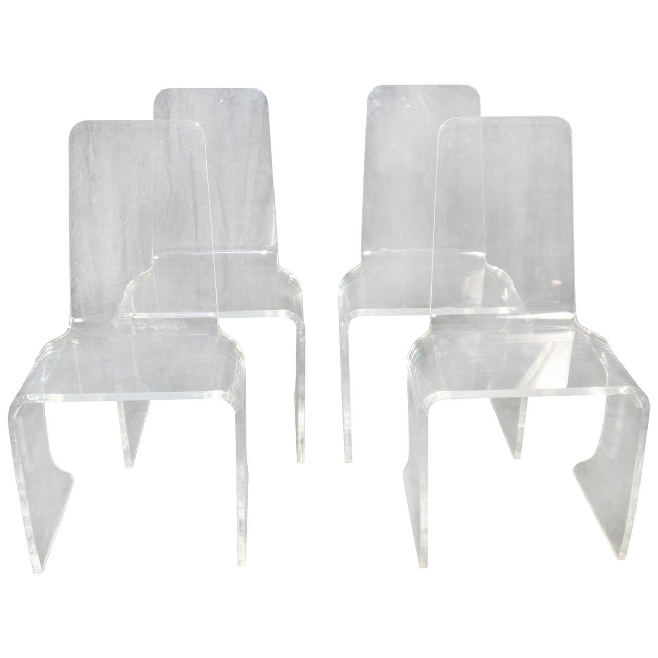 acrylic dining chair seat covers for chairs with arms set of four vintage at 1stdibs
