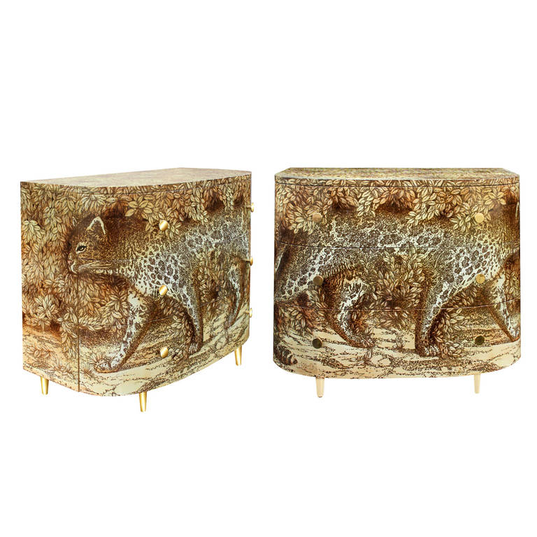 Pair Of Leopardo Chests By Barnaba Fornasetti At 1stdibs