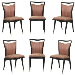Set Of Six Dining Chairs For Sale Recliner Chair Contemporary Design Sculptural Italian At