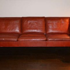 Borge Mogensen Sofa Model 2209 Poliform Tribeca Preis In Red Leather By At 1stdibs