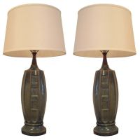 Pair of 1940s Ceramic Table Lamps For Sale at 1stdibs