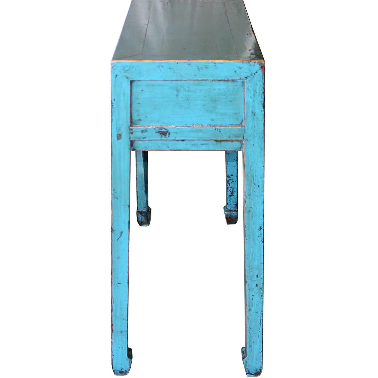 Blue Console Table W3drawers At 1stdibs