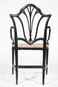 English Fancy Painted Armchair at 1stdibs