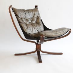 Brown Leather Slipper Chair Barber Hydraulic Repair Sigurd Resell Falcon In Rosewood At 1stdibs