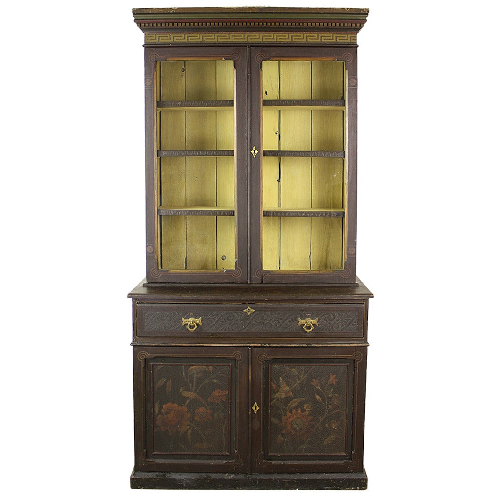 bookshelf chair for sale chairscape flooring elaborate antique english victorian painted bookcase
