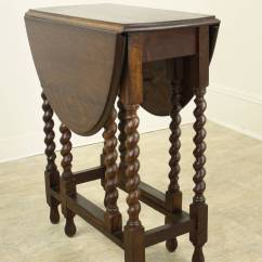 Gateleg Table With Chairs Lane Leather Office Chair Brown Small Antique English Barley Twist At 1stdibs