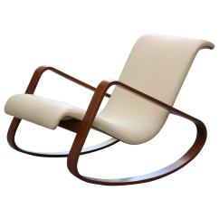 Bent Wood Rocking Chair Hanging With Stand Canada Italy Giuseppe Pagano Bentwood Leather Rocker For Sale At