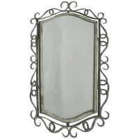 French 1940s Wrought Iron Mirror Attributed to Ren Drouet ...