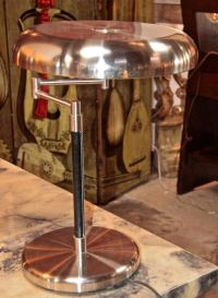 Pair of Italians 1960's Lamps In Leather And Metal at 1stdibs